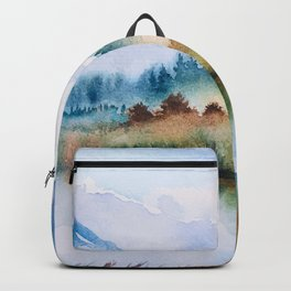 Winter scenery #16 Backpack