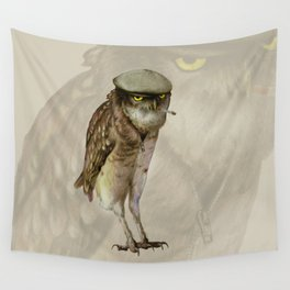 trendy owl Wall Tapestry