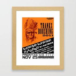 Thanksbooshing Framed Art Print