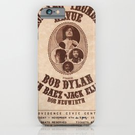 Vintage 1975 Bob Dylan and Rolling Thunder Review Flyer - Poster Providence Concert iPhone Case