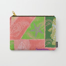 Vintage Hawaiian Polynesian Fish Collage Carry-All Pouch