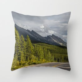Icefields Parkway, Early September Throw Pillow