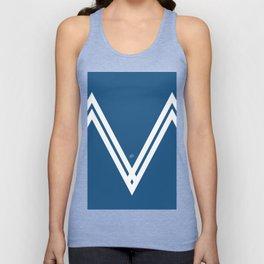 Blue V 3 #blue #white #design #abstract #artdeco #minimal #kirovair #buyart #decor #home Unisex Tank Top
