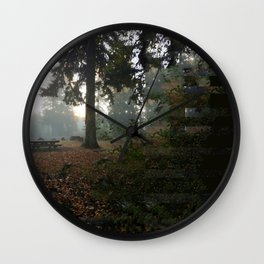 Divided In Fall (There Are No Picnics Here) Wall Clock