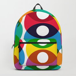 Geometric Pattern #64 (colorful bubbles) Backpack