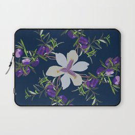 2941-AppleBerry-Iris.P1.Blue Laptop Sleeve