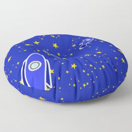 Rocketship to Mars Floor Pillow