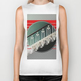 Stairway - red graphic Biker Tank