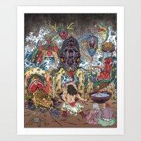 The Villains—The Eight-Forked Serpent Art Print