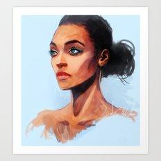 Portrait of a Brown Woman Art Print