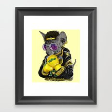 Boxing Cat 3 Framed Art Print