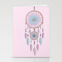 dream catcher Stationery Cards featuring Dream Catcher by haleyivers