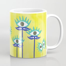 Evil Eye Nazar protective Garden Yellow Coffee Mug