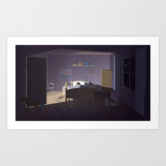 good night Art Print