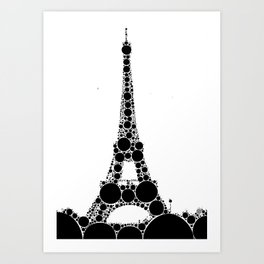 """Eiffel Tower - from """"Further Back"""" series Art Print"""
