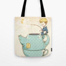 Tea Fishing Tote Bag
