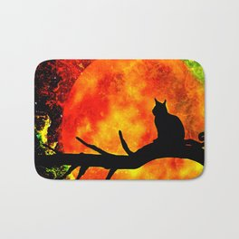 BLACK CAT HARVEST MOON 2018 Bath Mat