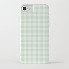 Gingham Pattern - Light Green iPhone Case