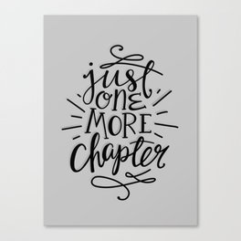 One More Chapter Minimalist Canvas Print