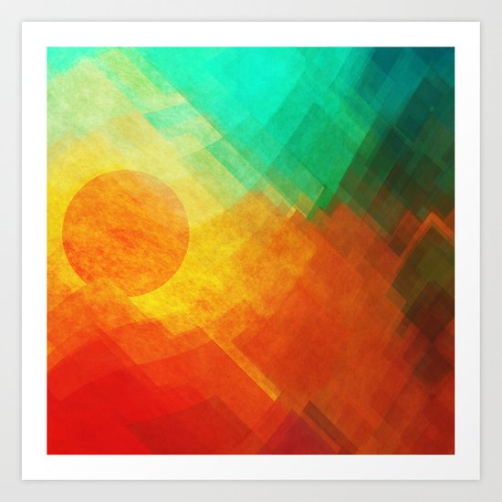Dreamy Sunset Art Print