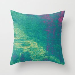 21-74-16 (Aquatic Glitch) Throw Pillow