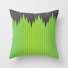Japanese Plastic Grass Throw Pillow