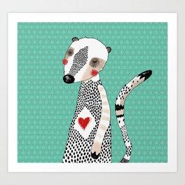 My meerkat Art Print