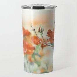 Orange Rose Flower Photography, Red Orange Roses, Burnt Orange Flowers Travel Mug