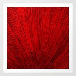 Electroshock Red Art Print