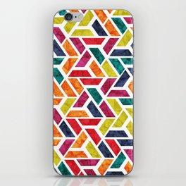 Seamless Colorful Geometric Pattern XII iPhone Skin