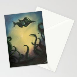 20,000 Leagues Under The Sea - Jules Verne Stationery Cards