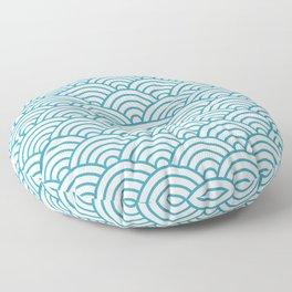 Japanese Waves Seigaiha Floor Pillow