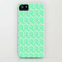 Lattice Pattern (Mint) iPhone Case