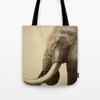 old Tote Bags featuring Old Friend by Eric Fan
