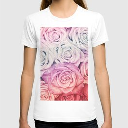 Some people grumble II  Floral rose flowers pink and multicolor T-shirt