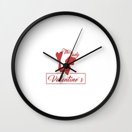 This Lady Loves Valentine's Day Wall Clock