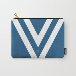 Blue V Abstract Retro Design Carry-All Pouch