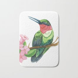 Summer Hummingbird Bath Mat