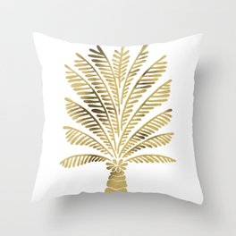 Palm Tree – Gold Palette Throw Pillow