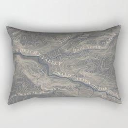 Yosemite Topo Map Rectangular Pillow