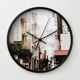 SF Side Streets Wall Clock