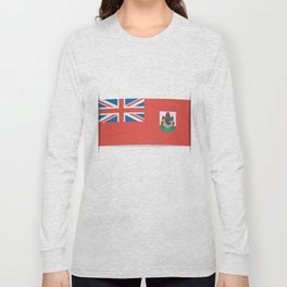 Flag of Bermuda. The slit in the paper with shadows. Long Sleeve T-shirt