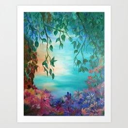 enchanted painting Art Print