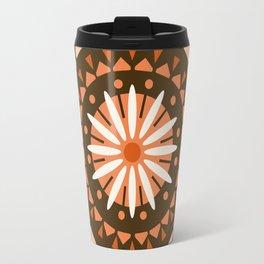 Jivin' - mandala trendy 70s style retro colors decor circle sun Travel Mug