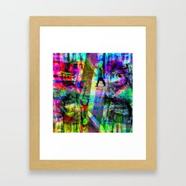 First in collusion, then inclusion; simple, innit! [RGB] Framed Art Print