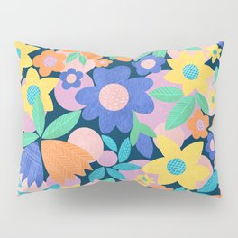 Spring Mod Flowers Pattern Pillow Sham