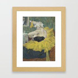 "Henri de Toulouse-Lautrec ""The Clown Cha-U-Kao"" Framed Art Print"