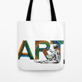 Eat Sleep Art Repeat Artist I arted Art Teacher Tote Bag