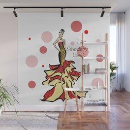 Ice Cream Strawberry Vanilla Wall Mural
