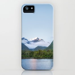 Beautiful sunset color at Harrison Cove in Milford Sound iPhone Case